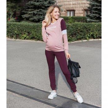 Спортивный костюм для беременных Юла мама Shield Пудровый/Фиолетовый ST-30.042