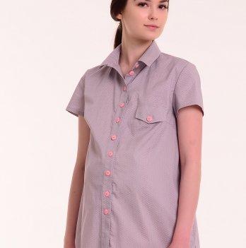 Рубашка MATATA (фиалковая в розовый горошек), White Rabbit