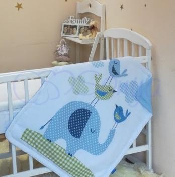 Плед Арт дизайн №9 Слоник голубой, Маленькая Соня