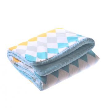 Детское одеяло Cotton Living Rhombus Aqua