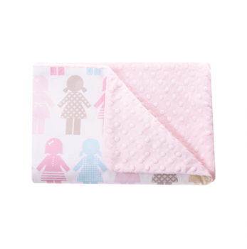 Детский плед Cotton Living Best Friends Candy Pink