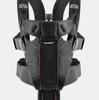 Рюкзак-кенгуру BabyBjorn Miracle Mesh черный для детей от 0 до 15 месяцев (до 12 кг)