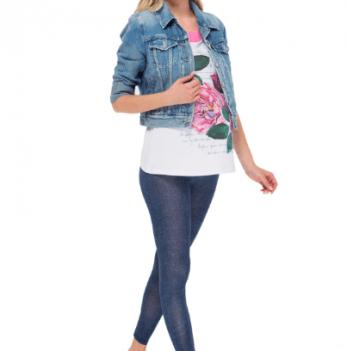 Леггинсы для беременных I love mum ЛВ04 синий джинс