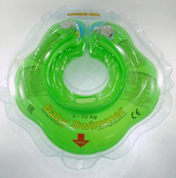 Круг BabySwimmer для детей от 0-24 месяцев и 3-12 кг, салатовый