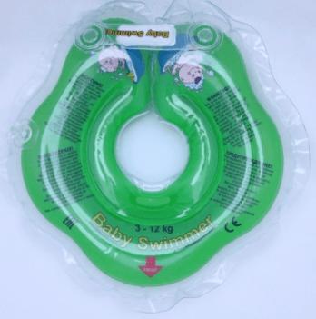 Круг BabySwimmer для детей от 0-24 месяцев и 3-12 кг, зеленый