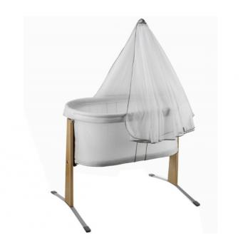 Колыбель с балдахином BabyBjorn для детей от рождения до 6 месяцев (весом до 8 кг).