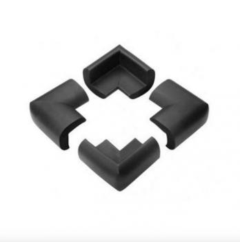 Защитные накладки на углы BabyOno мягкие, 957 черные