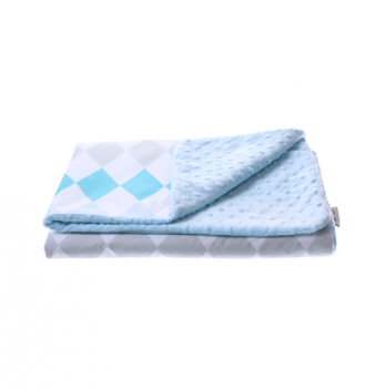 Детский плед Cotton Living Rhombus Aqua