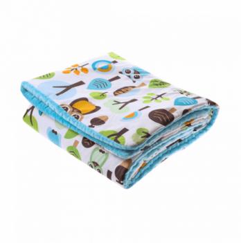 Детское одеяло Cotton Living Forest Owls Тopaz