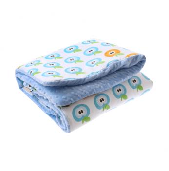 Детское одеяло Cotton Living Apples Baby blue