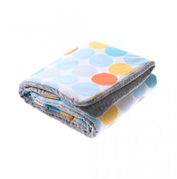 Детское одеяло Cotton Living Dots/Silver
