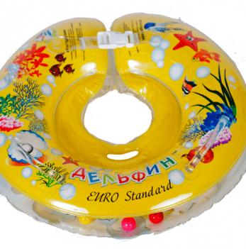 Круг желтый Дельфин EuroStandard для детей от 0-36 месяцев и 2-22 кг.