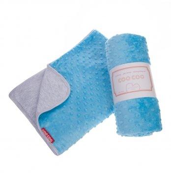Теплое детское одеяло, COO COO, бирюзовое, Соо17