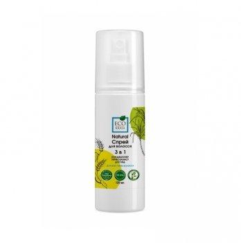 Натуральный спрей для волос 3в1 EcoKrasa кондиционер термозащита уход 120 мл.