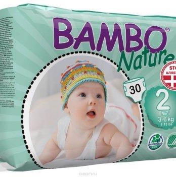 Подгузники противоаллергенные Bambo Nature Mini 3-6 кг, 30 шт.