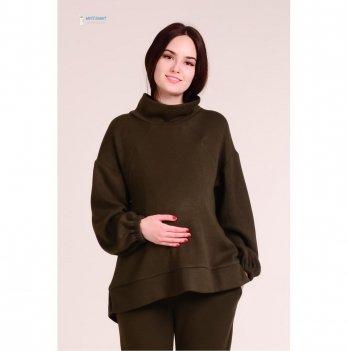 Теплый свитер для беременных и кормящих White Rabbit Terra, темно-оливковый