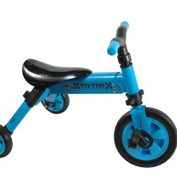 Складной трехколесный велосипед 2 в 1 синий TCV