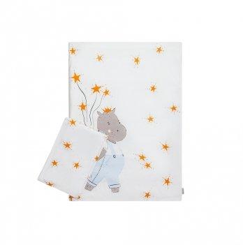 Комплект в кроватку Cotton Living Hippo Boy mini