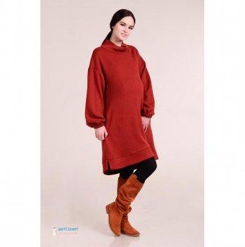 Теплое платье для беременных и кормящих White Rabbit Taory, терракотовое