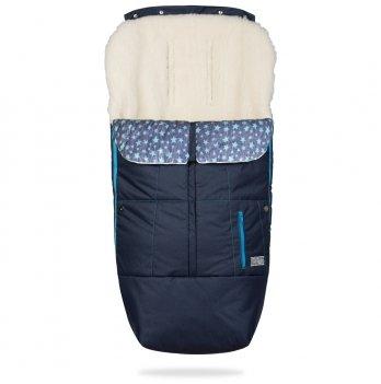Зимний конверт в коляску на овчине ДоРечі Trend Синий/Голубой