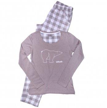 Пижама для девочки Ushuaia Белый медведь серая