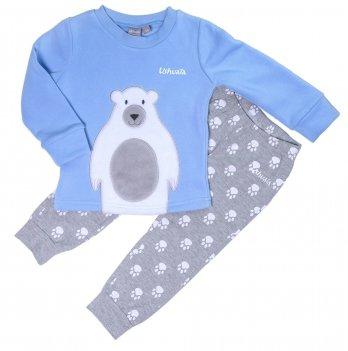 Пижама для девочки Ushuaia Белый медведь голубая