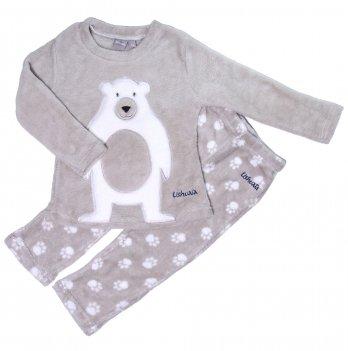 Пижама флисовая для мальчика Ushuaia Мишка серая