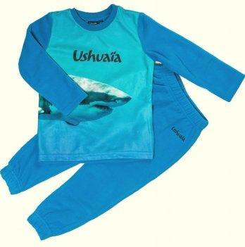 Домашний флисовый костюм для мальчика Ushuaia Акула