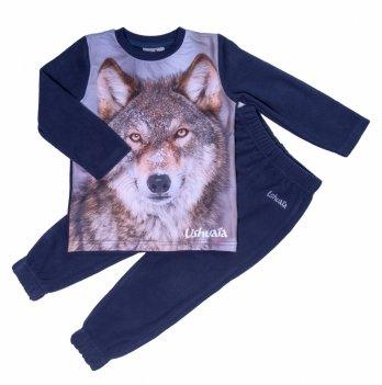 Домашний флисовый костюм для мальчика Ushuaia Волк
