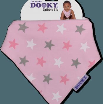 Нагрудник-бандана, Original Dooky, цвет Pink Stars