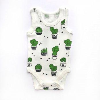 Детский бодик майка, Ripka, Кактусы зеленые