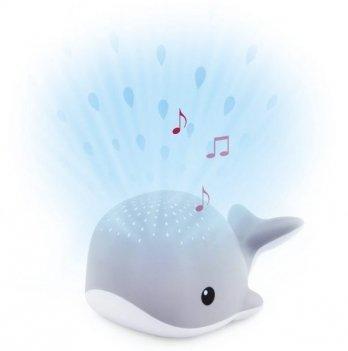 Ночник-проектор со звуками океана и колыбельными Zazu HARRY WALLY Кит серый