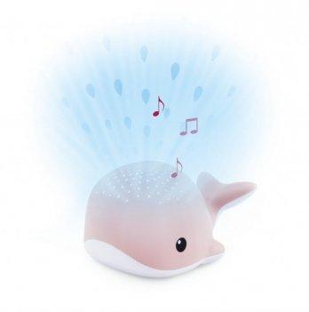 Ночник-проектор со звуками океана и колыбельными Zazu HARRY WALLY Кит розовый