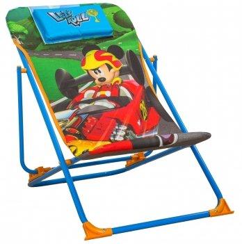 Шезлонг, ARDITEX Микки и веселые гонки (Mickey Roadster Racers) голубой