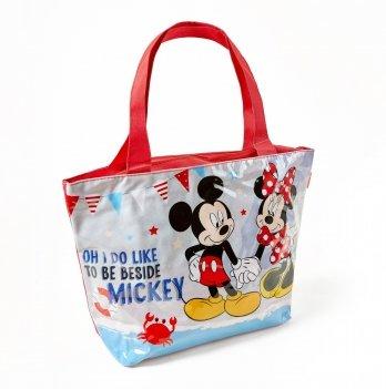 Пляжная сумка, Arditex Минни Маус (Minnie) серая, 48x32 см