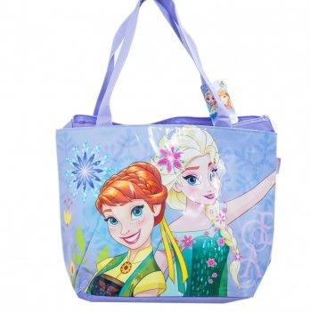 Пляжная сумка, Arditex Холодное сердце (Frozen) фиолетовая, 48x32 см