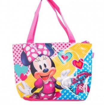 Пляжная сумка, Arditex Минни Маус (Minnie) розовая, 48х32 см