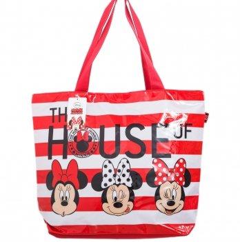 Пляжная сумка, Arditex Минни Маус (Minnie) красная, 52x40 см