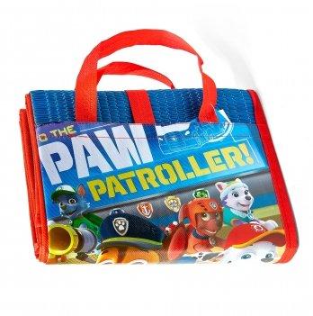 Пляжная сумка-коврик с надувным подголовником, Щенячий патруль (PAW Patrol) синяя, 75x150 см