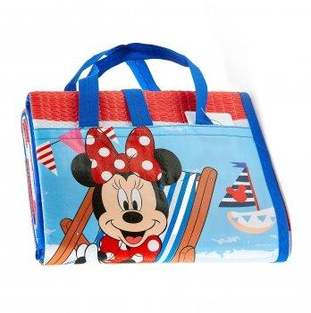 Пляжная сумка-коврик с надувным подголовником, Минни Маус (Minnie) красный, 75x150 см