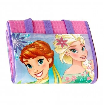 Пляжная сумка-коврик с надувным подголовником, Холодное сердце (Frozen) розовая, 75x150 см