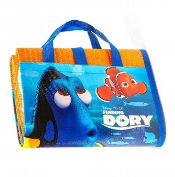 Пляжная сумка-коврик с надувным подголовником, В поисках Дори (Finding Dory) голубой, 75x150 см