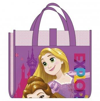Пляжная сумка-коврик с надувным подголовником, Принцессы (Princess) фиолетовая, 75x150 см