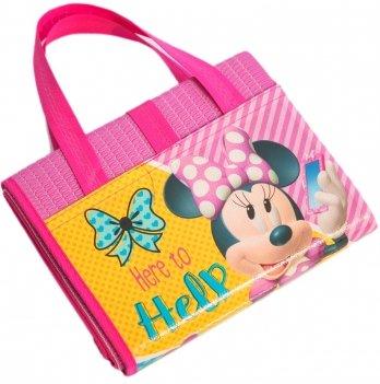 Пляжная сумка-коврик с надувным подголовником, Минни Маус (Minnie) розовая, 75x150 см