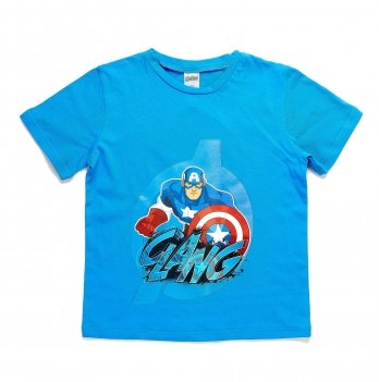 Футболка, ARDITEX Мстители (Avengers) голубая