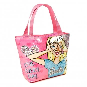 Пляжная сумка, Arditex Барби (Barbie) розовая, 48х32 см