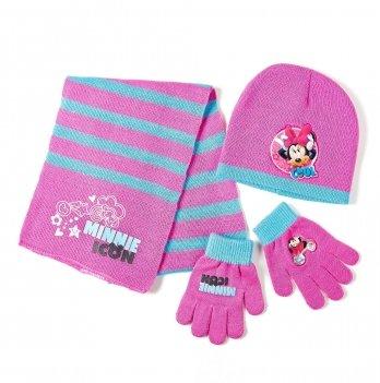 Комплект: шапка, шарф, перчатки Arditex, Minnie Mouse (Минни Маус) розовый