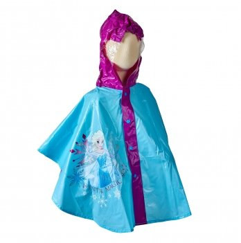 Плащ-дождевик, пончо Arditex, Frozen (Холодное сердце) голубой