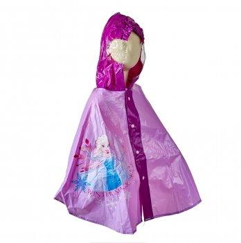 Плащ-дождевик, пончо Arditex, Frozen (Холодное сердце) розовый