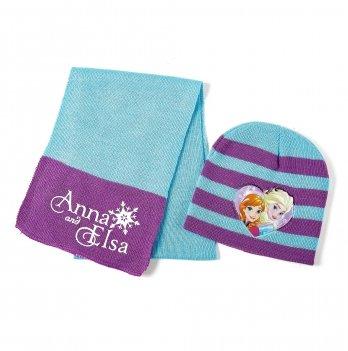 Комплект: шапка и шарф  Arditex, Frozen (Холодное сердце) голубой